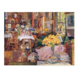 Childe Hassam - The room of flowers Post Cards
