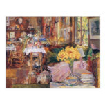 Childe Hassam - The room of flowers Postcards