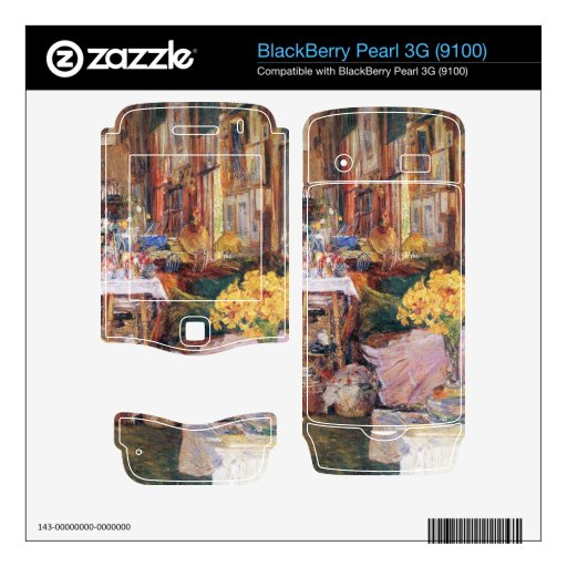 Childe Hassam - The room of flowers BlackBerry Pearl Decal