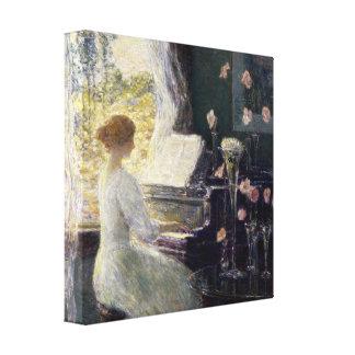 Childe Hassam - The Sonata Canvas Print