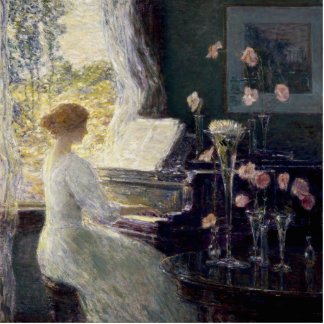 Childe Hassam - The Sonata Cutout