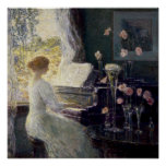 Childe Hassam - The Sonata Poster