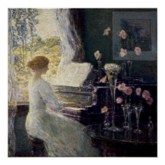 Childe Hassam - The Sonata Poster