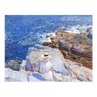 Childe Hassam - The Southern rock riffs Appledore Post Card