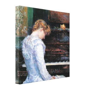 Childe Hassam   The Spanish Steps Canvas Print