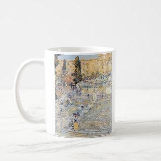 Childe Hassam - The Spanish steps Classic White Coffee Mug