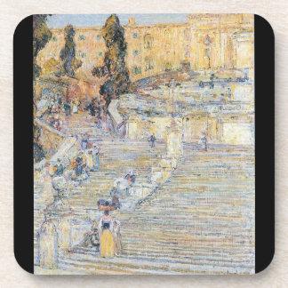 Childe Hassam - The Spanish steps Coaster