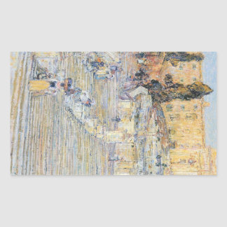 Childe Hassam - The Spanish steps Rectangular Sticker