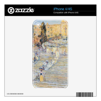 Childe Hassam - The Spanish steps Skins For The iPhone 4