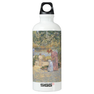 Childe Hassam - The staircase at Central Park Aluminum Water Bottle