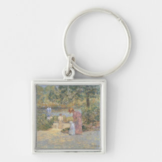 Childe Hassam - The staircase at Central Park Keychain