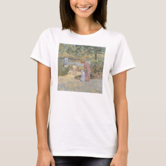 Childe Hassam - The staircase at Central Park T-Shirt