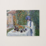 Childe Hassam - The Terre-Cuits Tea Set Jigsaw Puzzle