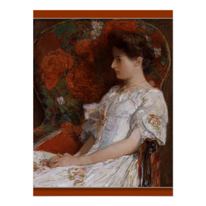 Childe Hassam The Victorian chair CC0409 Poster