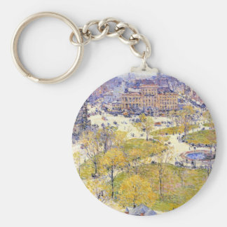 Childe Hassam - Union Square in Spring Key Chain