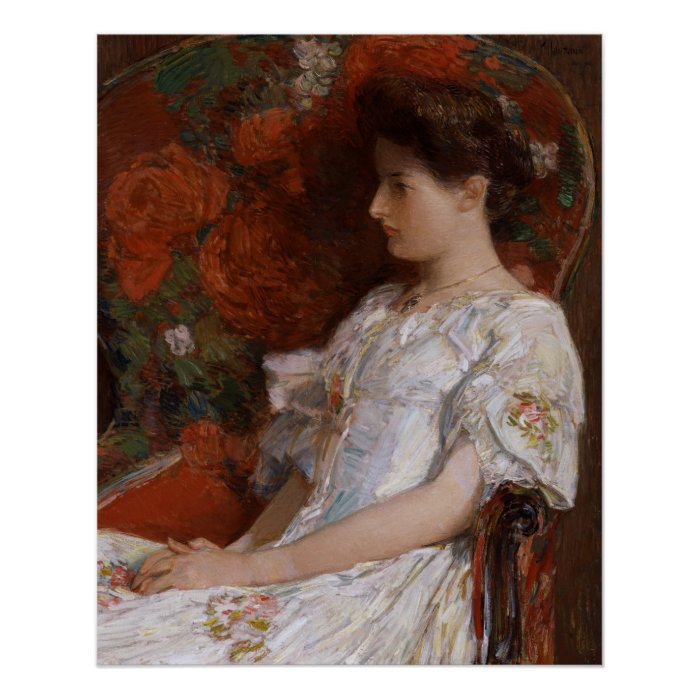 Childe Hassam Victorian chair CC0189 Impressionist Poster