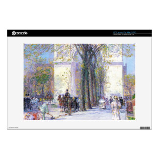 Childe Hassam - Washington triumphal arch in sprin Decal For Laptop