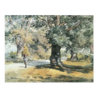 Childe Hassam - Wayside Inn Mass Postcard