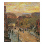 Childe Hassam-West 78th Street in Spring Poster