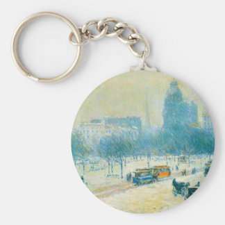 Childe Hassam - Winter in Union Square Keychains