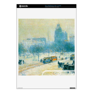 Childe Hassam - Winter in Union Square Skins For The PS3 Slim