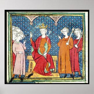 Childeric II , Merovingian King of Austrasia Print