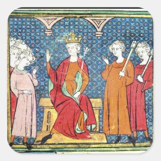 Childeric II , Merovingian King of Austrasia Square Sticker