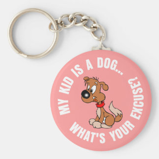 Childfree Dog Owner Vs Parents with Bad Kids Basic Round Button Keychain