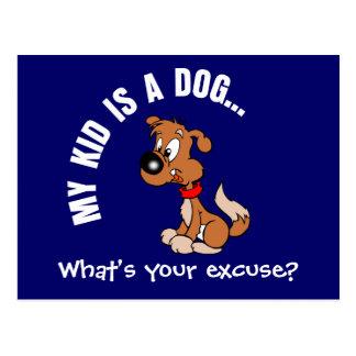 Childfree Dog Owner Vs Parents with Bad Kids Postcard