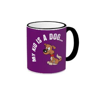Childfree Dog Owner Vs Parents with Bad Kids Ringer Mug