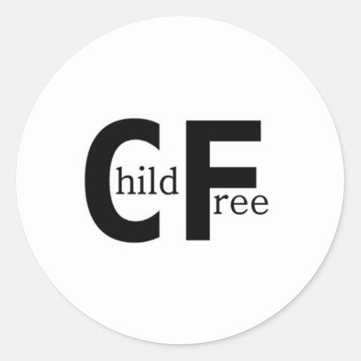 Childfree Pegatina Redonda