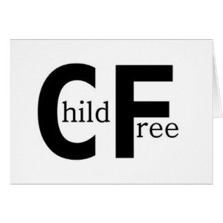 Childfree Tarjeta De Felicitación