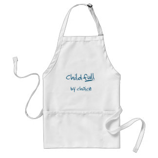 Childfull by choice adult apron