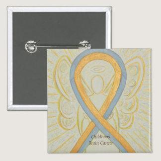 Childhood Brain Cancer Angel Awareness Ribbon Pins