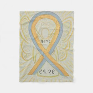Childhood Brain Cancer Awareness Angel Blanket