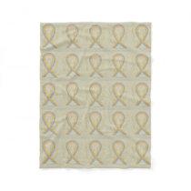 Childhood Brain Cancer Awareness Ribbon Blankets