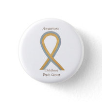 Childhood Brain Cancer Custom Awareness Ribbon Pin