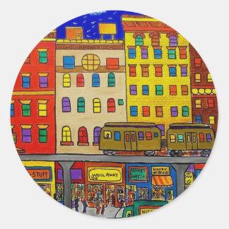 Childhood Bronx 6 by Piliero Classic Round Sticker
