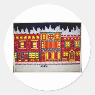 Childhood Bronx by Piliero Classic Round Sticker