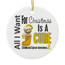 Childhood Cancer All I Want Christmas Ornaments