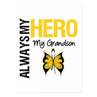 Childhood Cancer Always My Hero My Grandson Postcards
