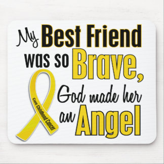 Childhood Cancer ANGEL 1 Best Friend (Female) Mouse Pad
