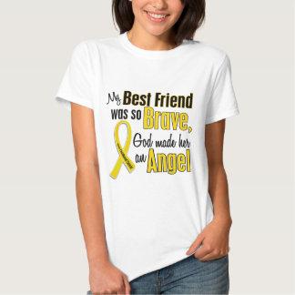 Childhood Cancer ANGEL 1 Best Friend (Female) T-Shirt