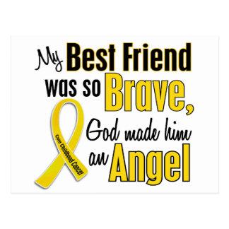 Childhood Cancer ANGEL 1 Best Friend (Male) Postcard