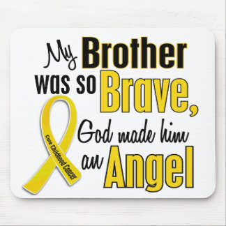 Childhood Cancer ANGEL 1 Brother Mouse Pad