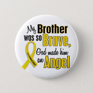 Childhood Cancer ANGEL 1 Brother Pinback Button