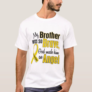 Childhood Cancer ANGEL 1 Brother T-Shirt