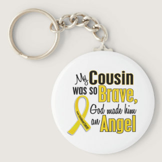Childhood Cancer ANGEL 1 Cousin (Male) Keychain