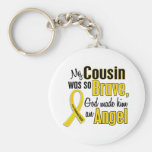 Childhood Cancer ANGEL 1 Cousin (Male) Keychains