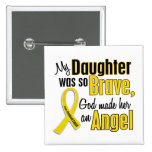 Childhood Cancer ANGEL 1 Daughter 2 Inch Square Button